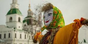 Maslenitsa dame mascotte festival