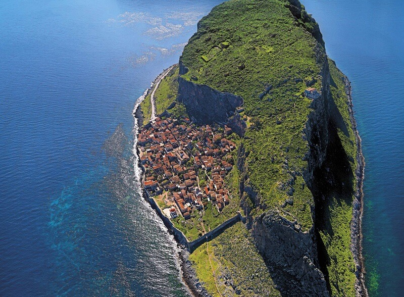 Monemvasia et son rocher, le Gibraltar grec