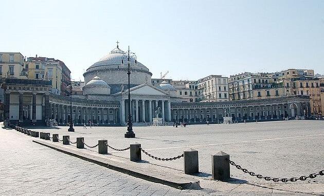 Piazza del Plebiscito, place du peuple, Naples