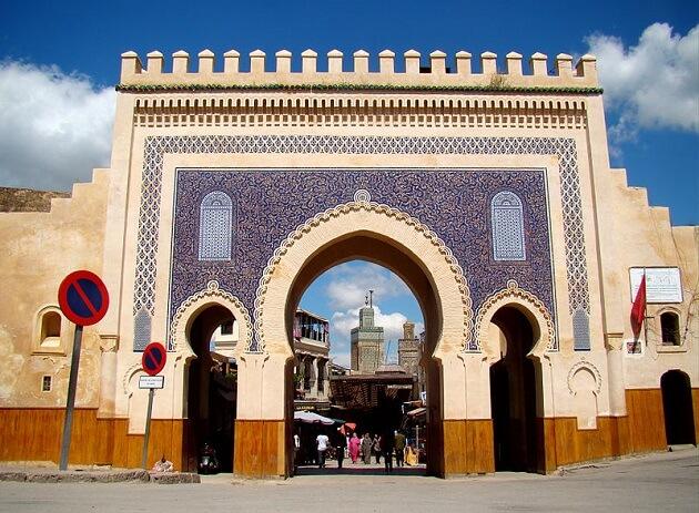 Porte Bleue de la Medina de Fès, Maroc