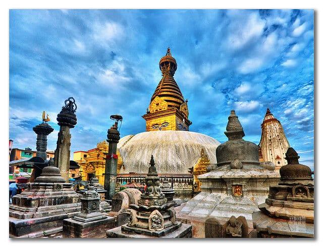 Temple Swayambhunath, Katmandou, Népal