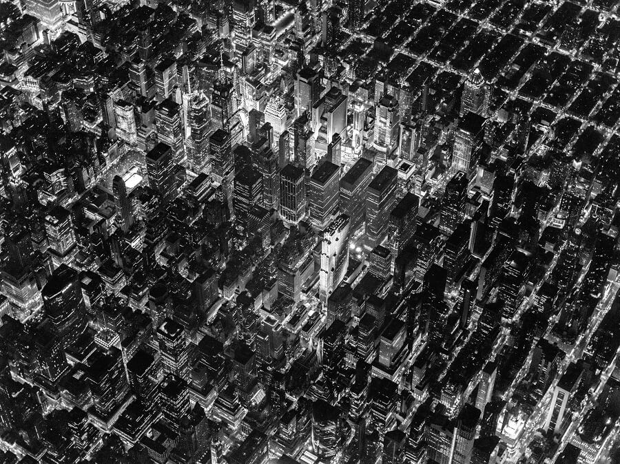Vincent Laforet, New-York vue aérienne, nuit, lumières