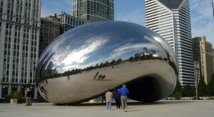 Cloud Gate, porte des nuages, Millennium Park, Chicago
