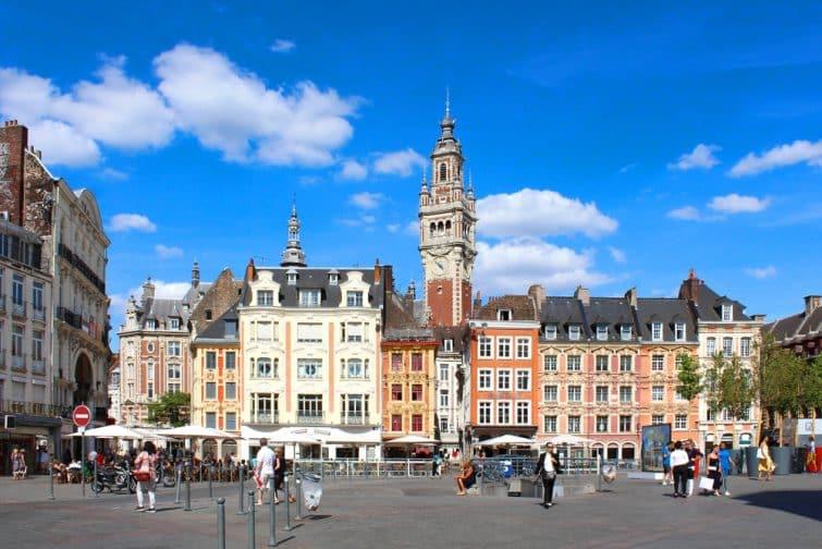 Vue sur la Grand'Place de Lille