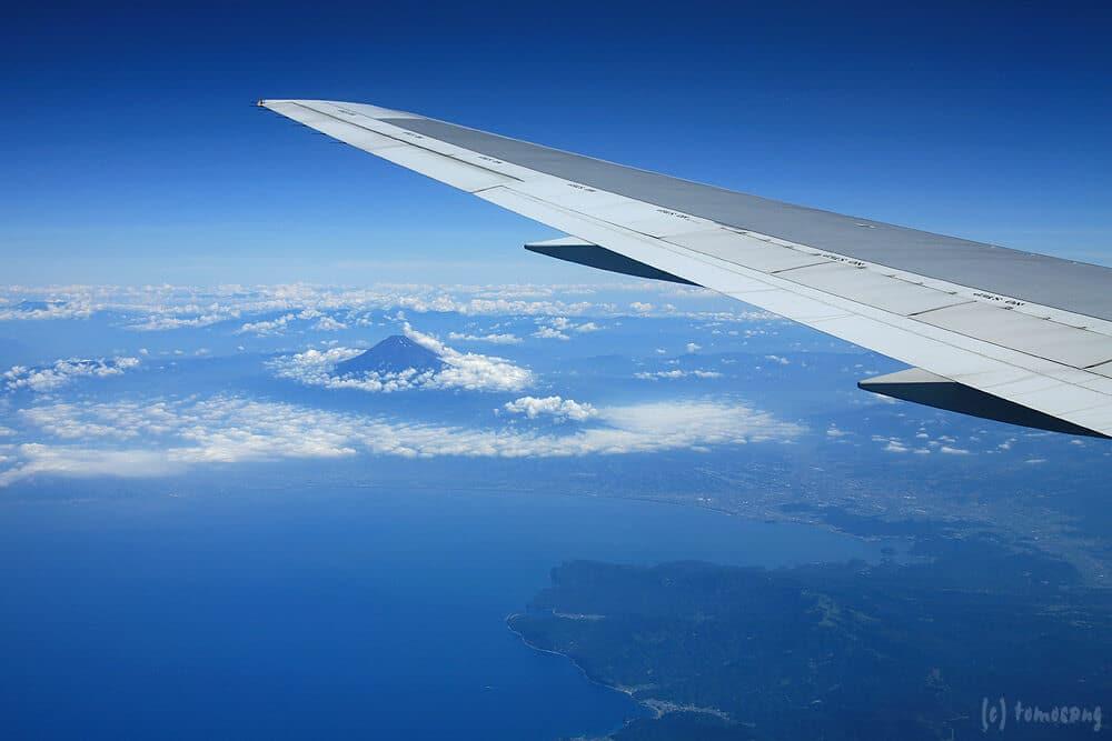 Photos prises depuis le hublot ou la fenêtre d'un avion