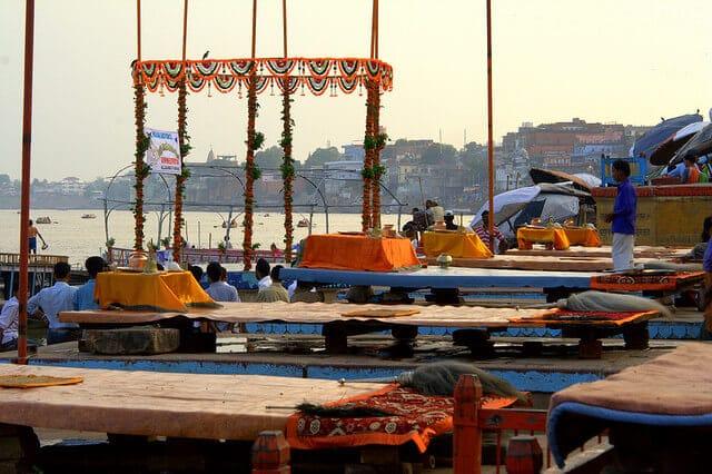 Varanasi, ghats, crémation