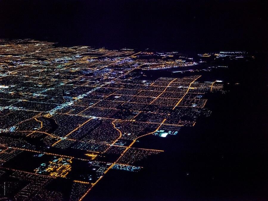 Découvrez Las Vegas comme jamais avec ces photos aériennes nocturnes incroyables