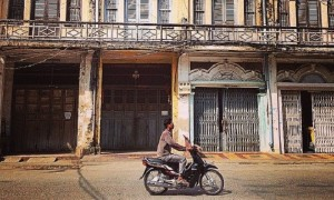 Battambang, Cambodge, Scooter rue, photo principale