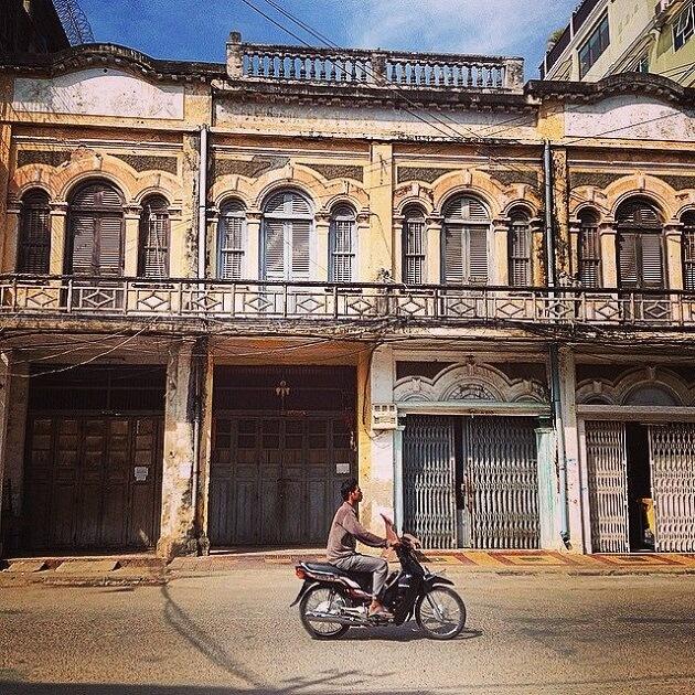 Battambang, Cambodge, Scooter rue