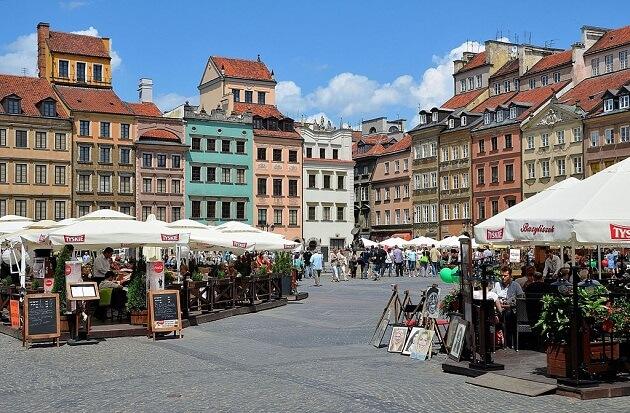 Rynek, place du marché, Varsovie