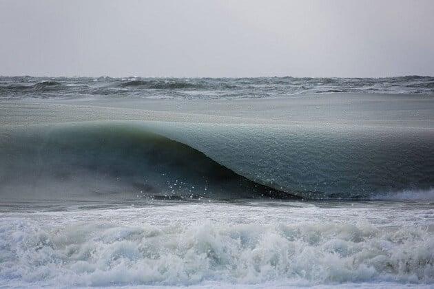 Les vagues gelées sur la côte Est des Etats-Unis