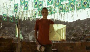 Bataille de cerfs-volants, Rio, favela