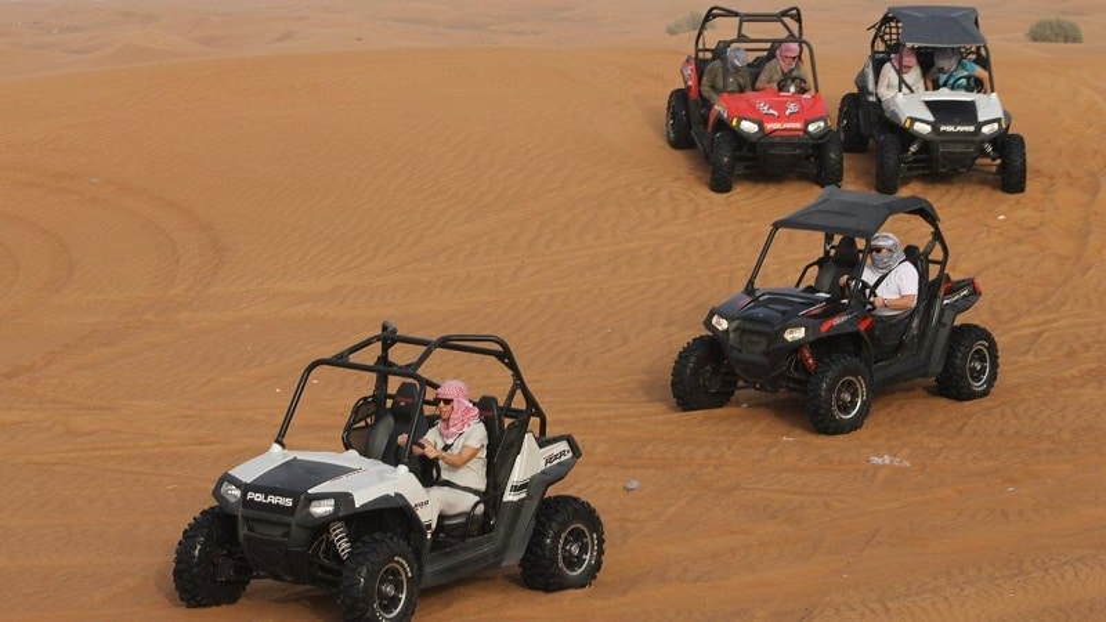 Balade en buggy dans le désert de Dubaï