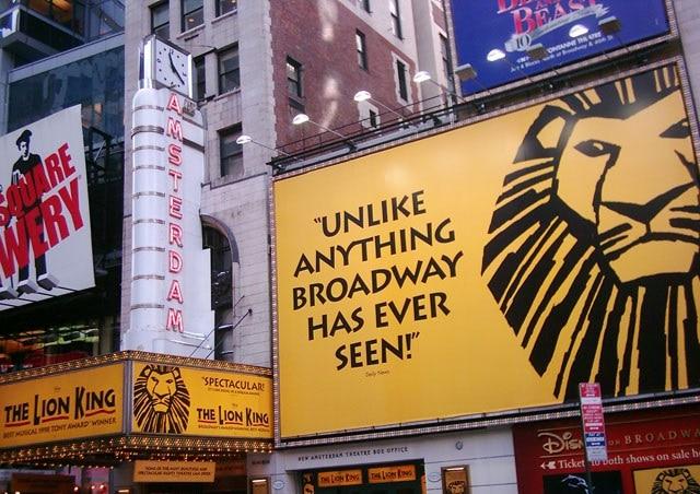 Billets pour voir le spectacle Le Roi Lion à Broadway