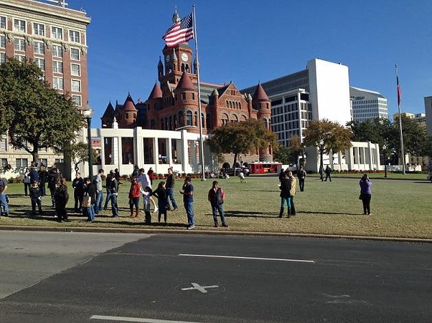 Dealey Plaza, lieu exact de l'assassinat de Kennedy, Dallas