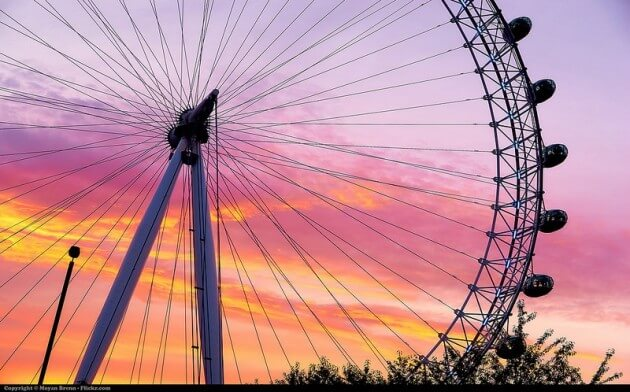 Billet coupe-file pour le London Eye à Londres