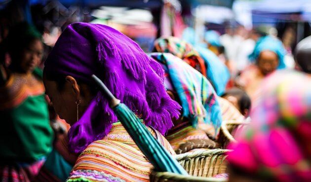 Le marché ethnique de Bac Ha dans la région de Sapa