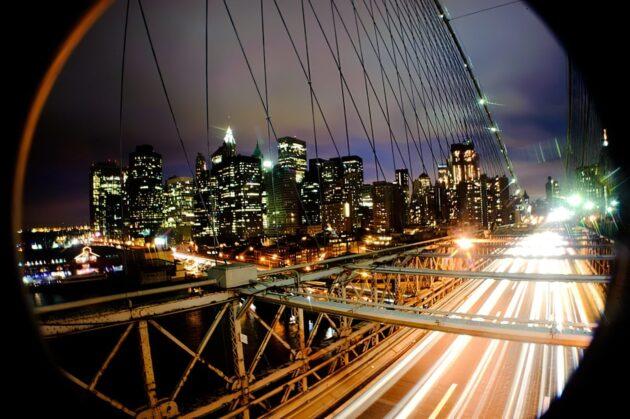Visite de la ville de New York de nuit