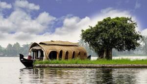 Backwaters, bateaux Kerala, Inde