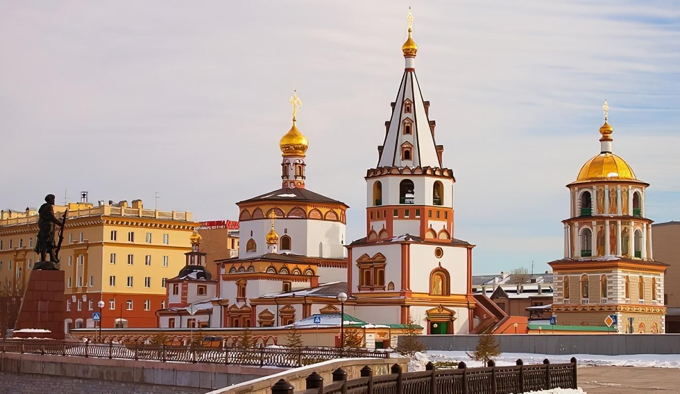 Cathédrale épiphanie, Irkoutsk, Russie