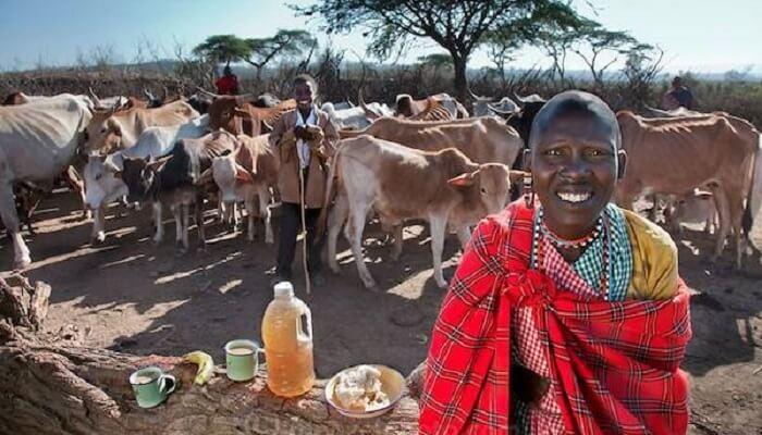 Des citoyens du monde posent avec leur repas quotidien