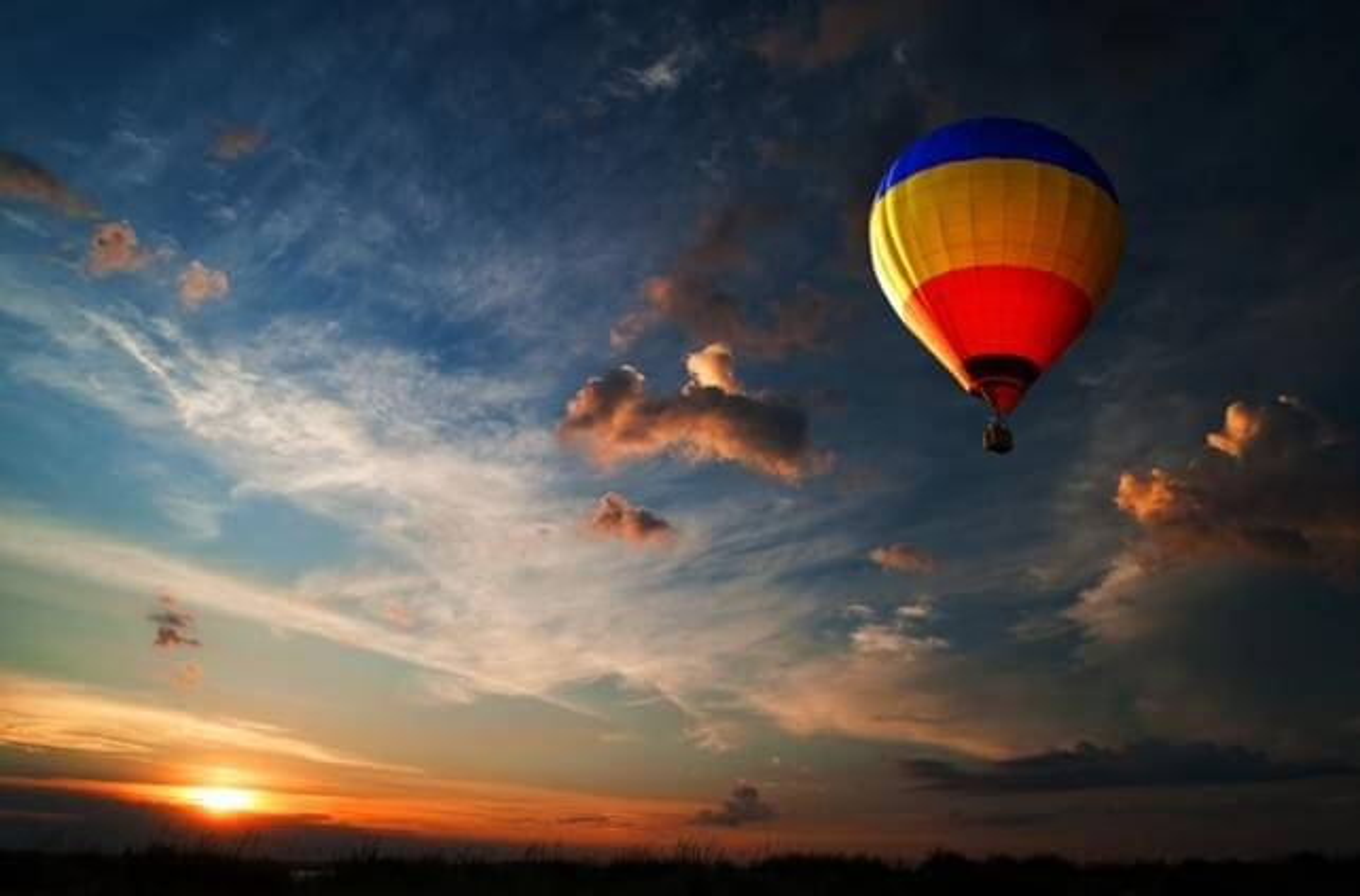 Las Vegas, survol montgolfière, matin