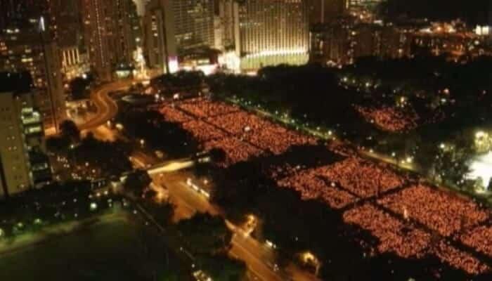 Commémoration de Tienanmen, Hongb Kong 2015
