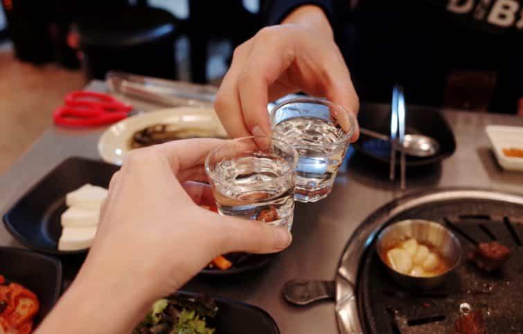 Le soju, bière faisant partie des spécialités coréennes