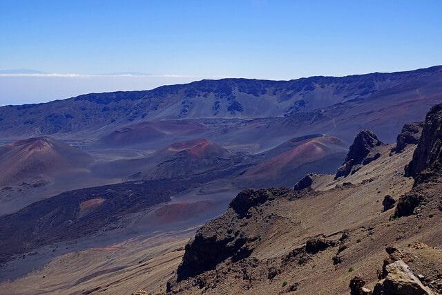 Cratère, Haleakala, Hawai