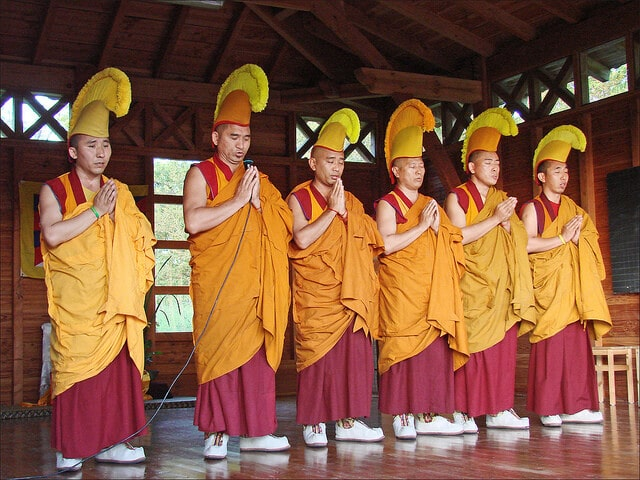 Parc japonais Maulévrier moines tibétains