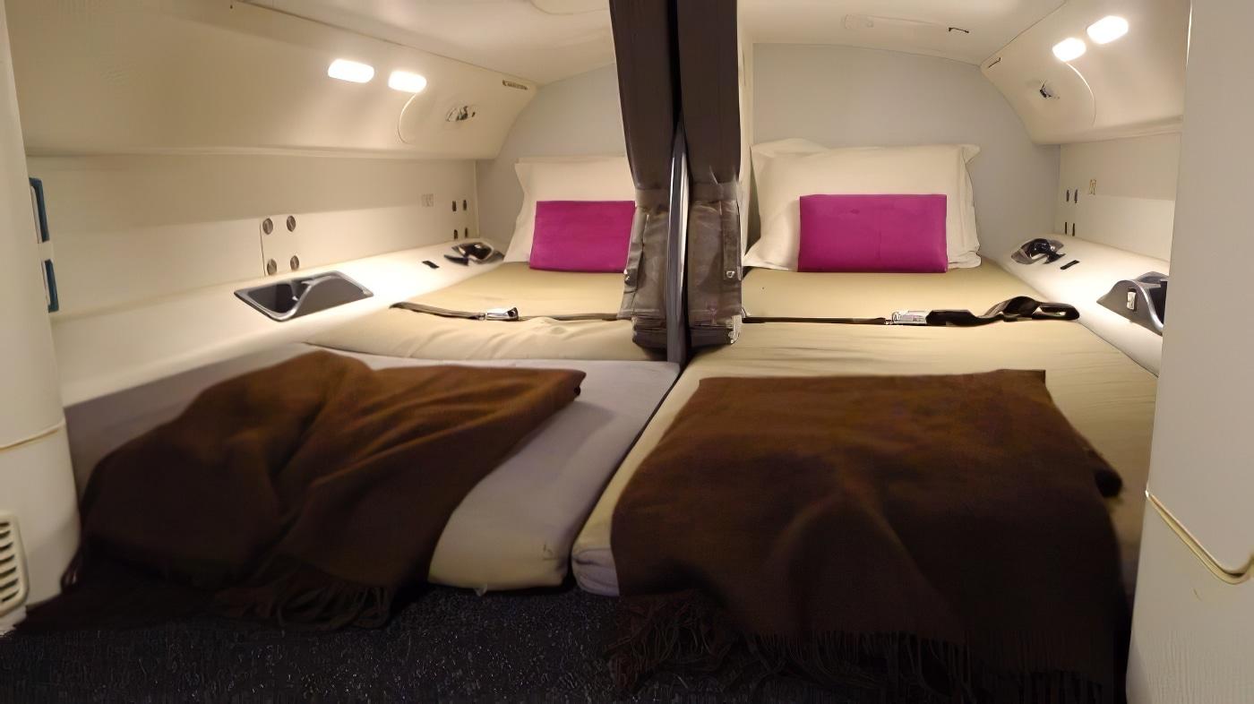 La pièce secrète des avions où dort l'équipage sur les vols long-courriers