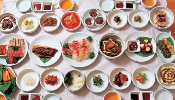 Spécialités coréennes table