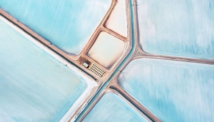 Les champs de sel bleus en Australie