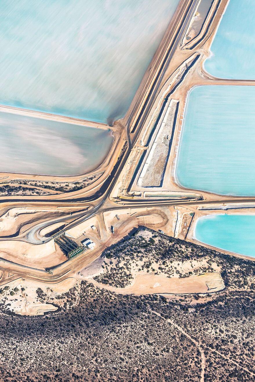 Blue Fields, salins bleus, Australie, Simon Butterworth