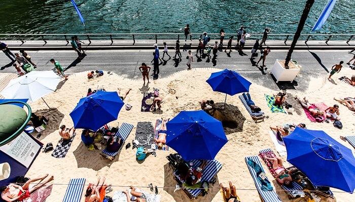 Paris Plage, été, soleil