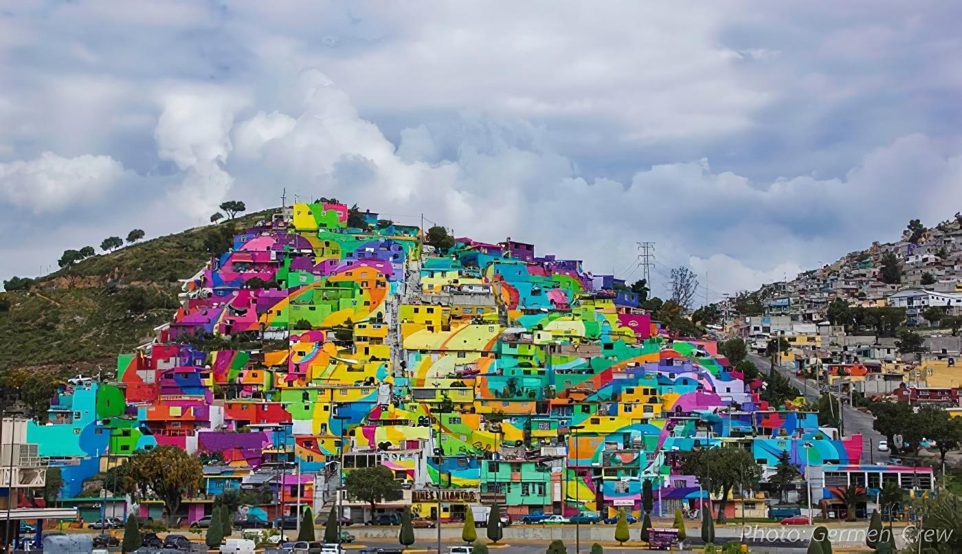 street-art, fresque, pachuca, palmitas, mexique