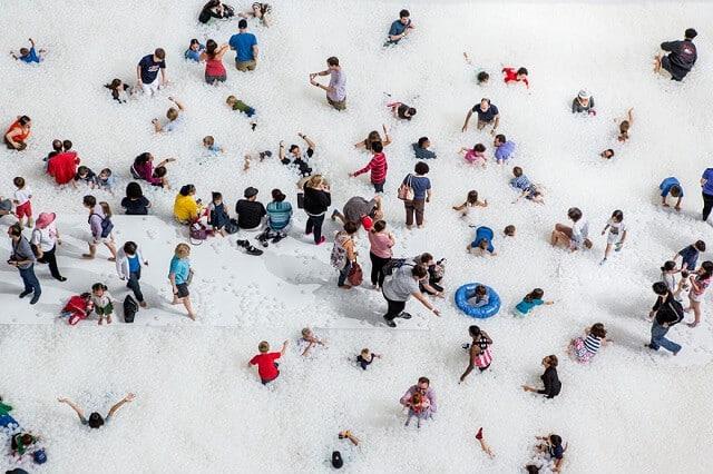 The Beach, boules en plastiques, National Building Museum, Washington