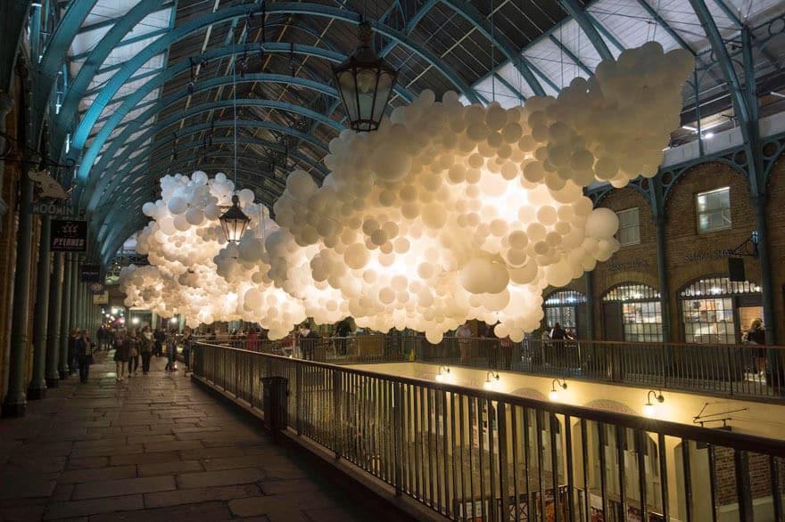 Charles Pétillon, ballons, Covent Garden, Londres