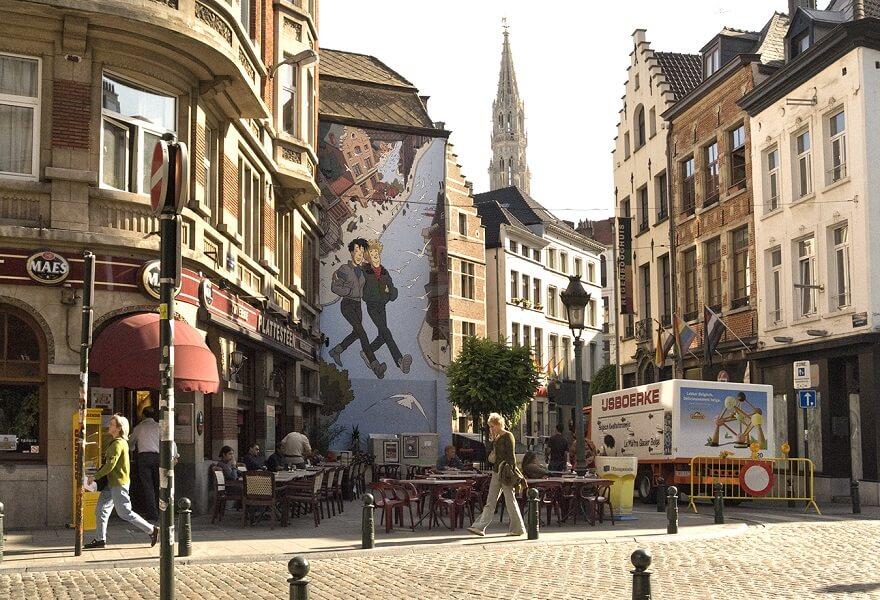 parcours, bd, Bruxelles