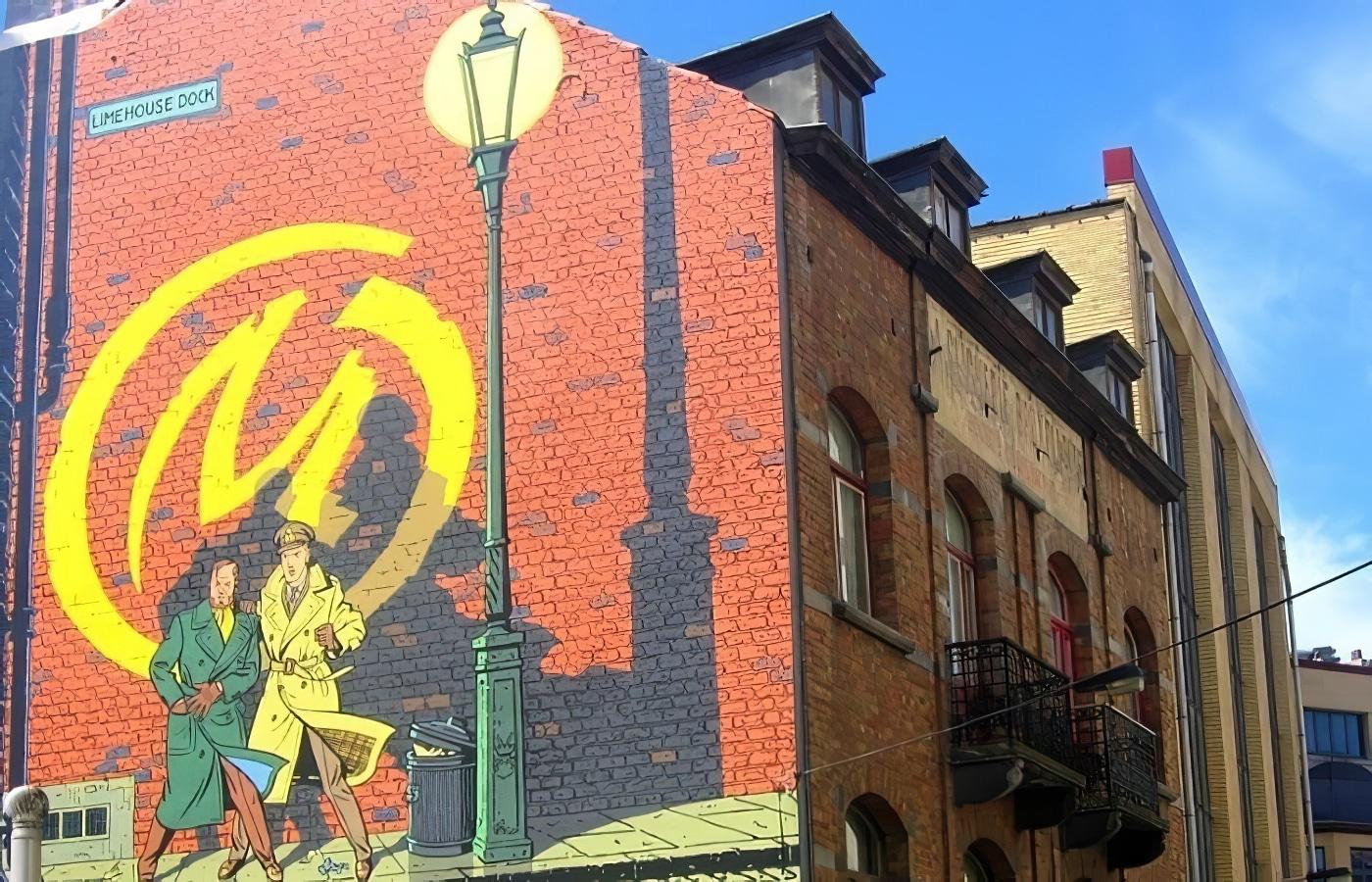 Le parcours BD de Bruxelles, une promenade au fil des fresques murales
