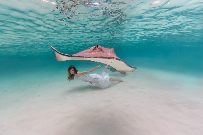 Bahamas Girl, Sacha Kalis, photos sous l'eau