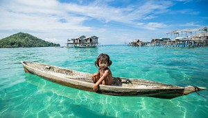 bajau, borneo, nomades de la mer, Rehahn, photos
