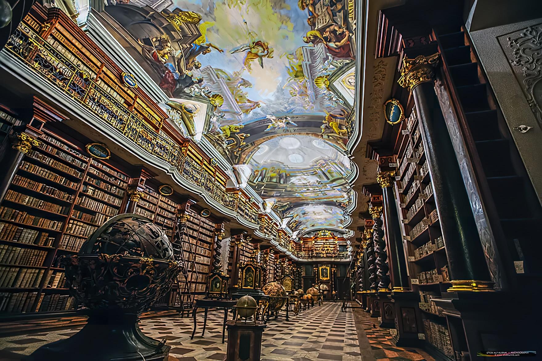 Clementinum, bibliothèque, Prague