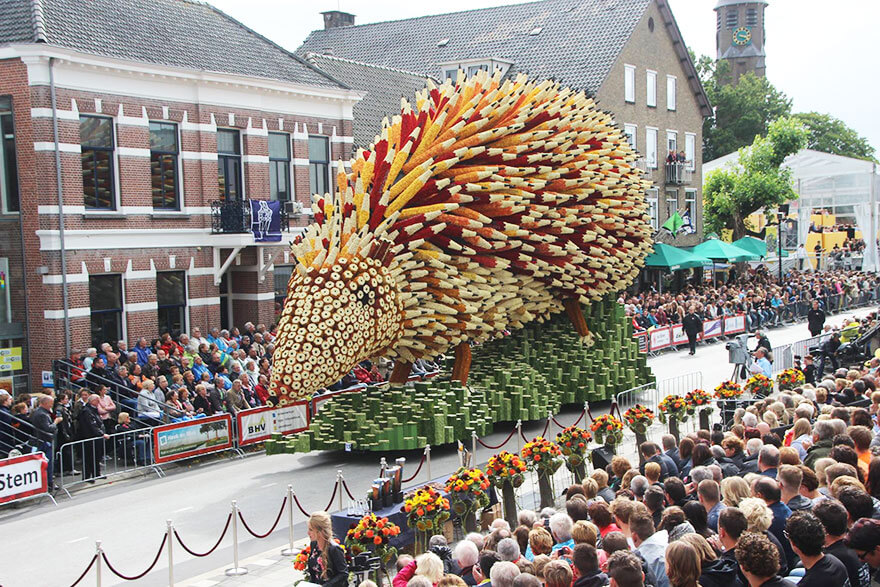 Corso fleuri, Zundert, Pays-Bas, Van Gogh, fleurs