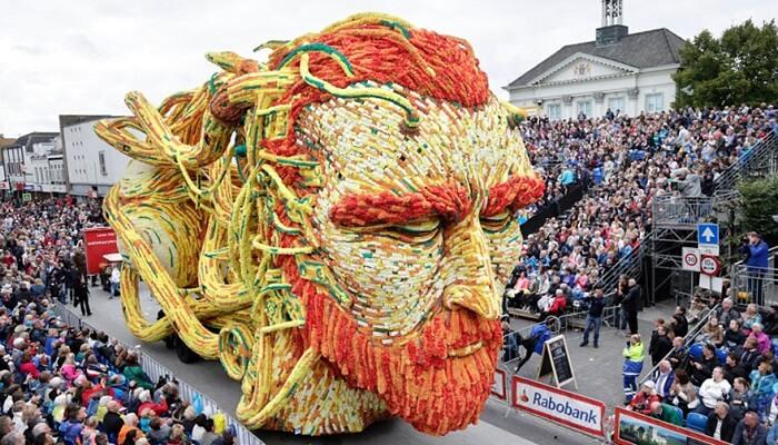 La parade de fleurs de Zundert aux Pays Bas