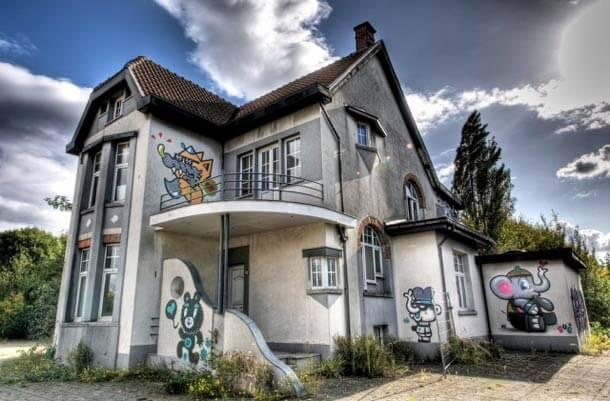 Doel, street-art, Belgique