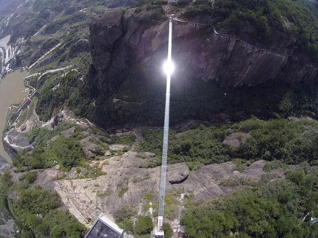 pont en verre plus long du monde, chine