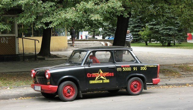 Visite de Nowa Huta à bord d'une voiture de collection