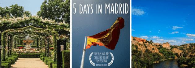 Film : 5 jours à Madrid et Tolède