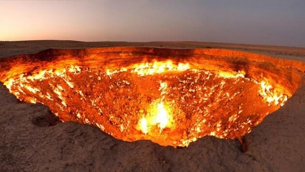 La Porte de l'Enfer au Turkménistan, résultat d'une erreur scientifique
